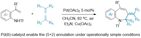 28) Palladium-Catalyzed Formal (5 + 2) Annulation between ortho-Alkenylanilides and Allenes