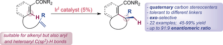 29) Iridium(I)-Catalyzed Intramolecular Hydrocarbonation of Alkenes: Efficient Access to Cyclic Systems Bearing Quaternary Stereocenters