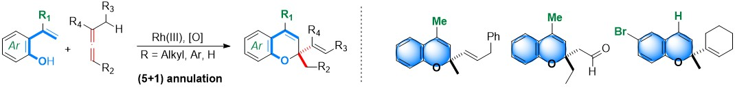 23) Rhodium-Catalyzed (5+1) Annulations Between 2-Alkenylphenols and Allenes: A Practical Entry to 2,2-Disubstituted 2H-Chromenes